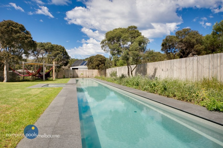Compass Pools Melbourne 25m Custom Lap Pool with Spa in Rye 1