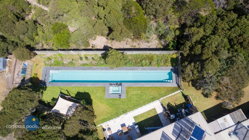 Compass Pools Melbourne 25m Custom Lap Pool with Spa in Rye 3