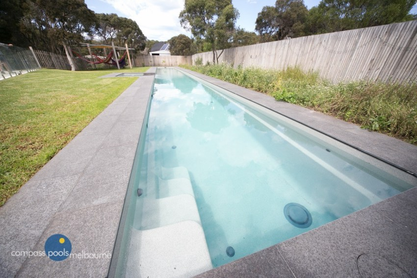 Compass Pools Melbourne 25m Custom Lap Pool with Spa in Rye 4